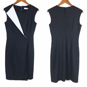 Calvin Klein Black & White Sheath Dress 4